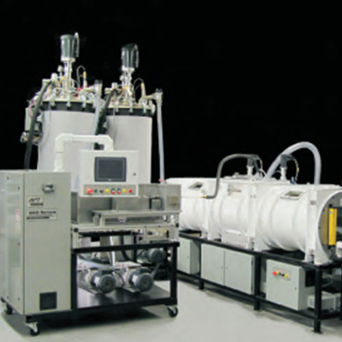 Continuous Epoxy Vacuum Casting Equipment with three connected vacuum chambers