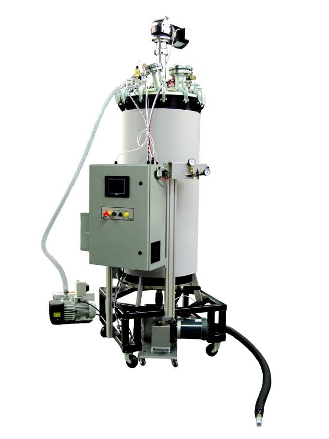 Degasser, Continuous Resin Degasser, Thin-Film, urethane, epoxy